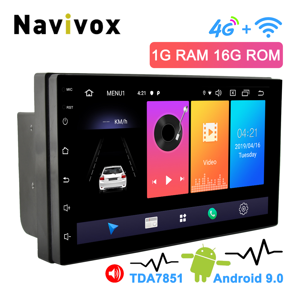 Navivox 2 Din Android Car Radio 7 Universal Car DVD GPS Player Android 9.0 Multimedia Navigation For Nissan Honda Toyota BYD