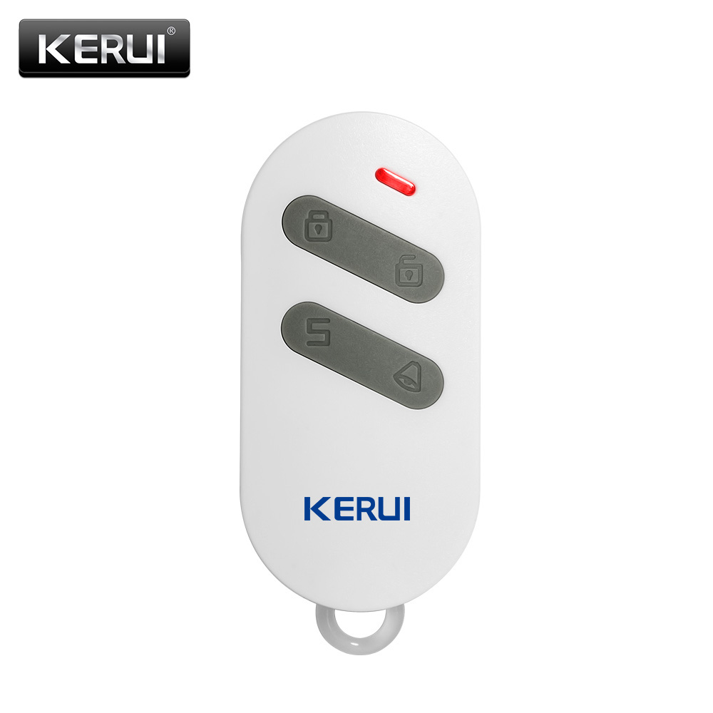Kerui Wireless High-performance Portable Remote Control 4 Buttons Keychain For Wifi Gsm Pstn Home Security Alarm System Alarm Remote Controller Security Alarm