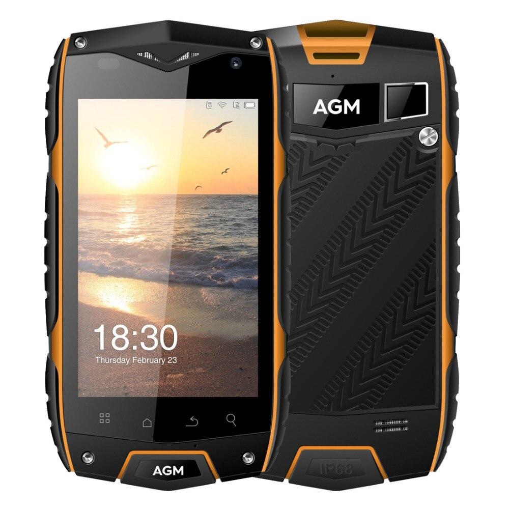 Original 4G LTE AGM A7 Waterproof Phone 4.0'' Android 6.0 2GB RAM 16GB ROM 8MP QUALCOMM MSM8909 Quad Core 2930mAh GPS ZUG3 Phone