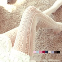 Fashion New Arrival Hollow Out Lace Bars In Fishnet Stockings Sexy Lace Pantyhose Sweet Women Girls