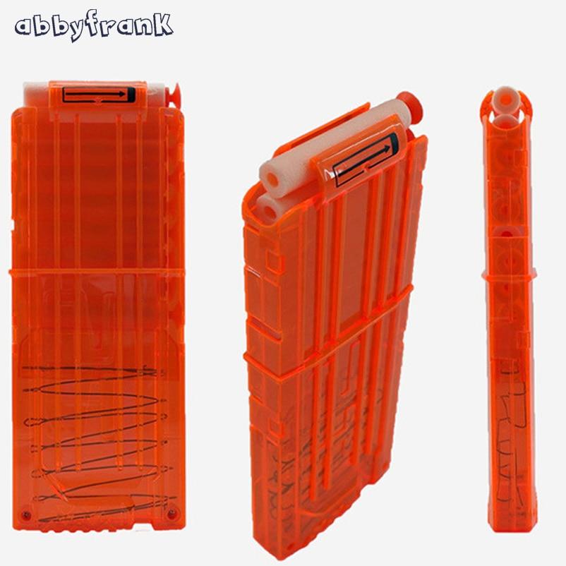 銃のおもちゃのためのAbbyfrankの柔らかい弾丸クリップ12弾丸のプラスチック投げ矢銃の雑誌のカートリッジ弾薬クリップほとんどのおもちゃ銃の投げ矢のおもちゃ