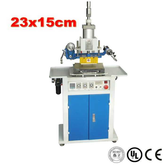 15x23cm Large Size Pneumatic Hot Foil Stamping Machine Leather Embossing on Paper, Leather, Notebook, Wood