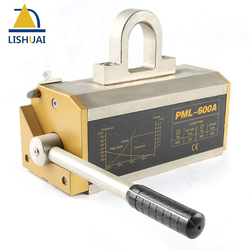 LISHUAI 600KG(1320Lbs) Permanent Magnetic Lifter/Permanent Lifting Magnet for Steel Plate with CE Certified PML-600 ce certified 100kg permanent magnetic lifter steel plate hoist lifting crane free shipping
