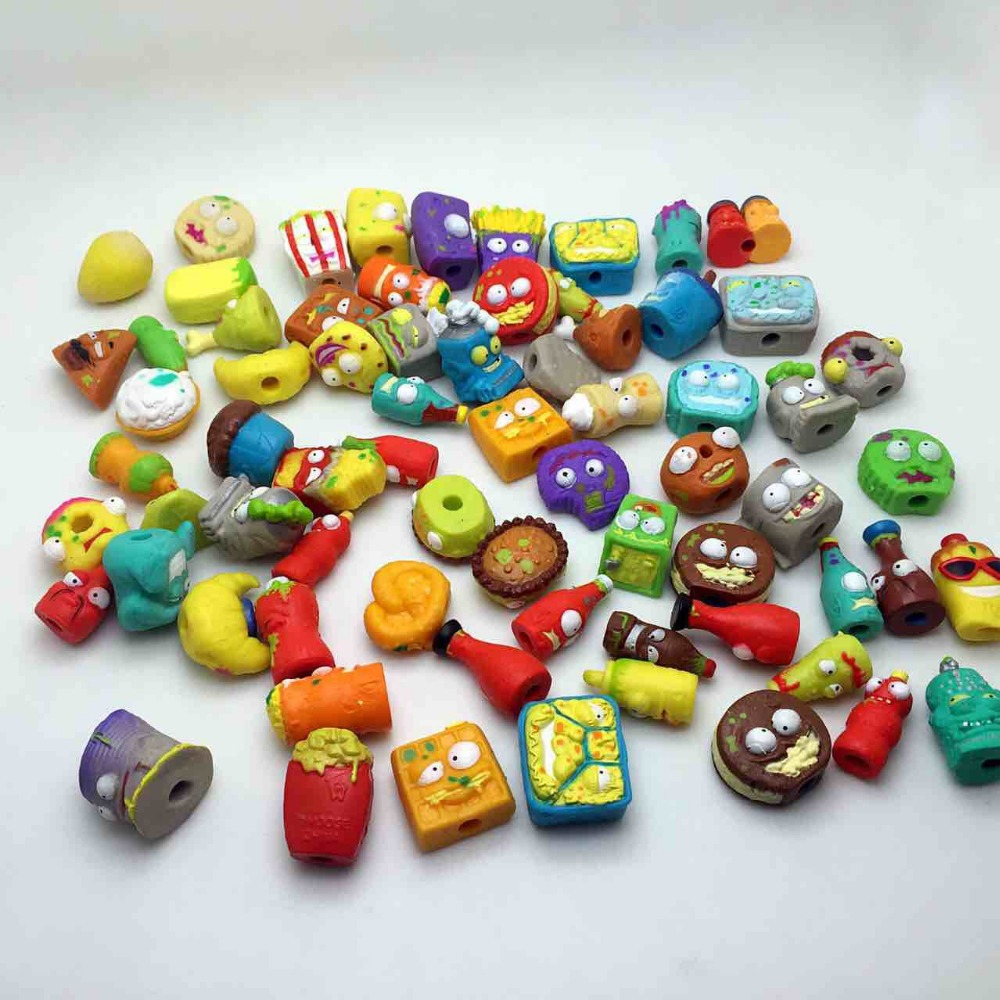25-200PCS/Lot Cartoon Anime Action Figures Toys Garbage Moose The Grossery Gang Model Toy Dolls Kids Collection Model 6pcs set disney trolls dolls action figures toys popular anime cartoon the good luck trolls dolls pvc toys for children gift