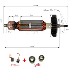 AC 220-240V Armature Anchor  Replace for MAKITA  GA5030 GA4530 GA4030 GA4031 PJ7000 Engine Rotor Motor стоимость