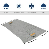 2018 Universal Car Waterproof Thickening Cotton Padded PEVA Snow Shield Anti UV Snow Covers With Reflective