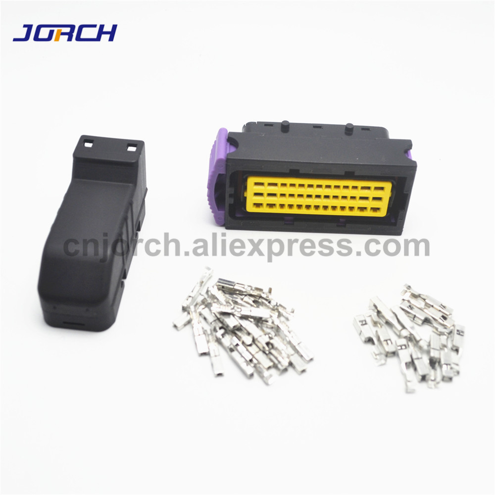 Free Shipping 39 Pin ECU Sealed Automotive FCI Auto Connector PCB Control System Female 39p Ecu Connectors With Terminals