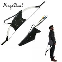MagiDeal Portable Target Hunting Archery Quiver&Bow Arrow Holder Bag With Adjustable Strap Accessory for outdoor Shooting Sport
