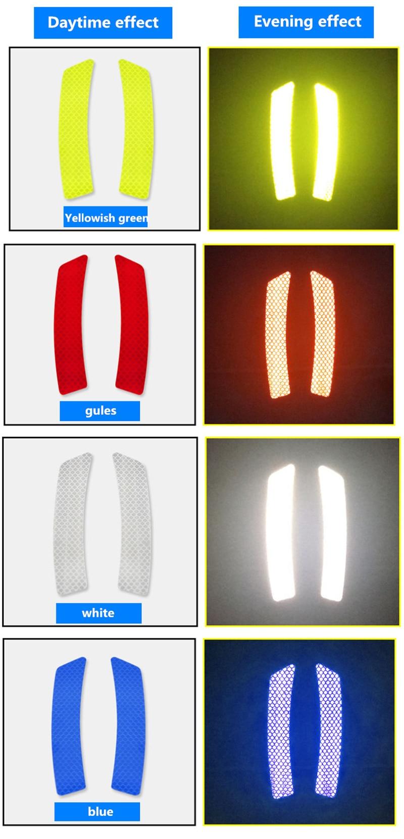 4 шт флуоресцентный автомобиля открыть со светоотражающими элементами