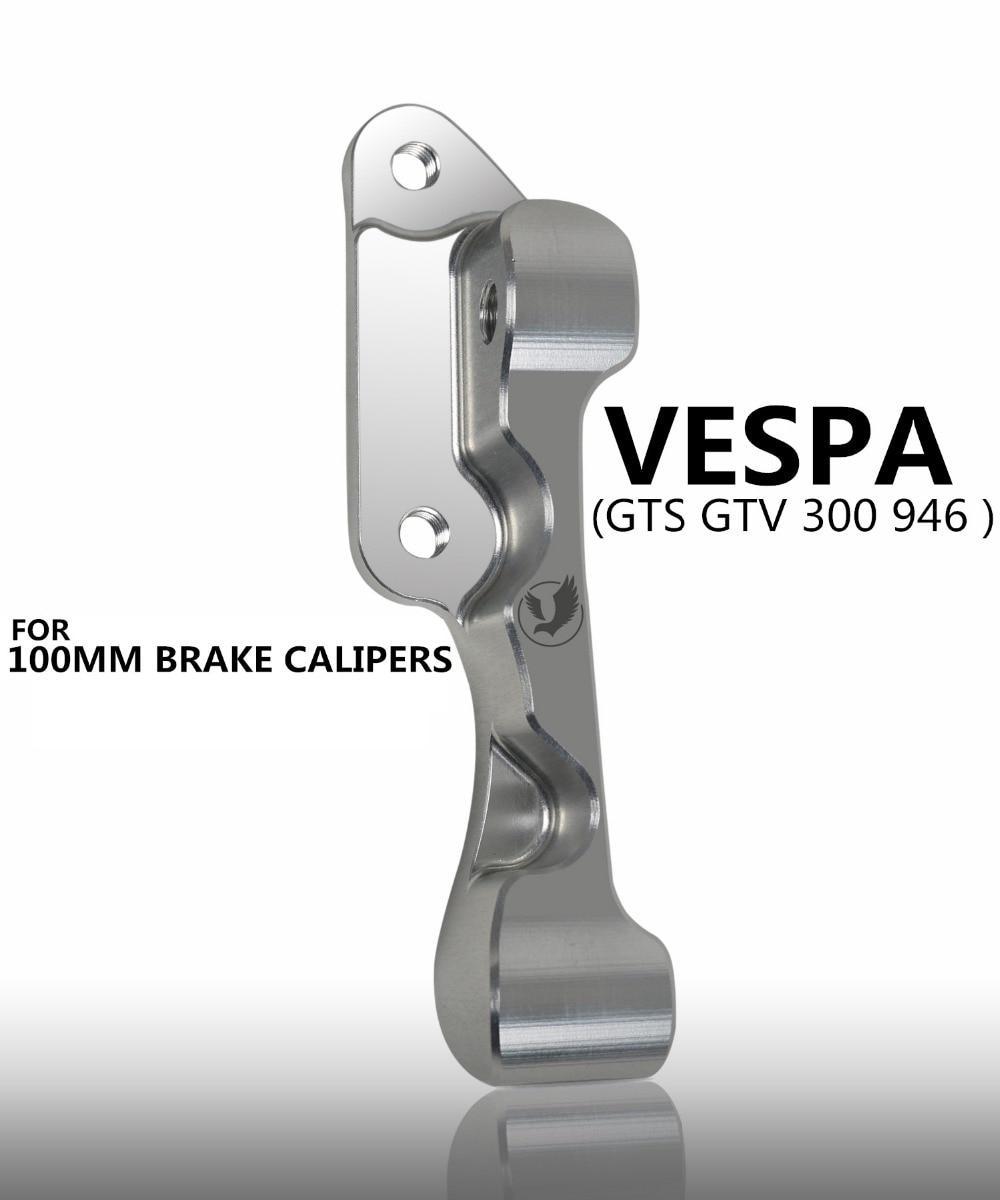 Motorcycle modifivation CNC aluminium alloy brake caliper bracket For piaggio vespa gts gtv 300 946 100mm brake caliper bracket