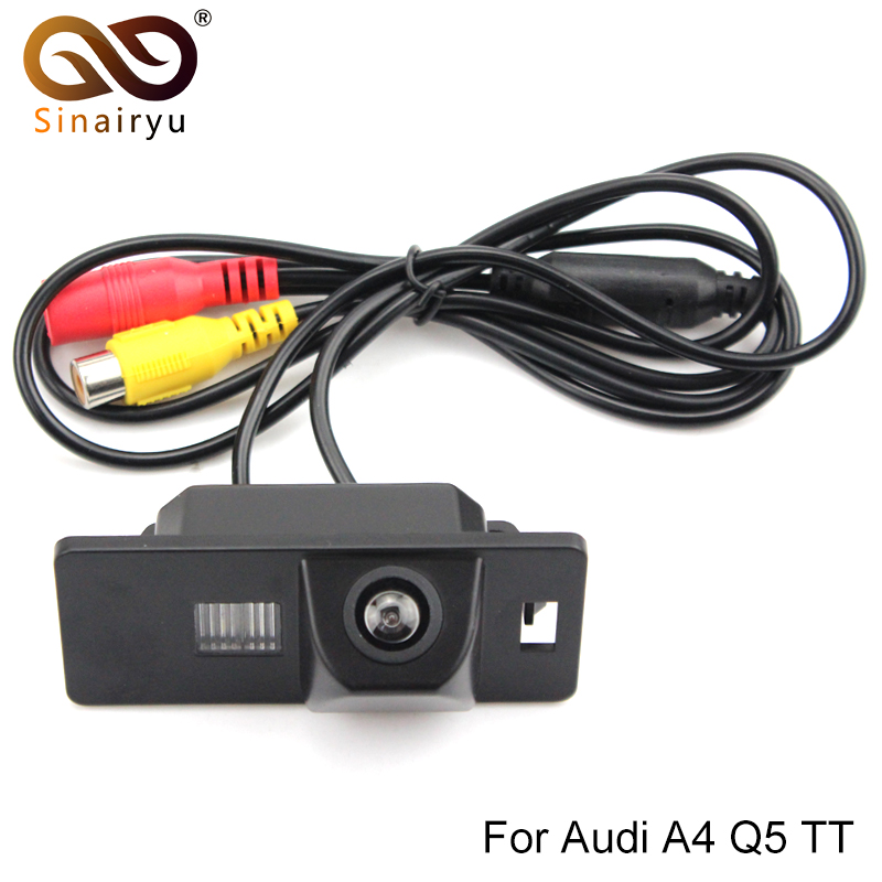 Sinairyu Sony CCD чип заднего вида Обратный с Руководство/Парковка линии камеры для Audi A1 A4 (B8) a5 S5 Q5 TT/Passat R36 5D