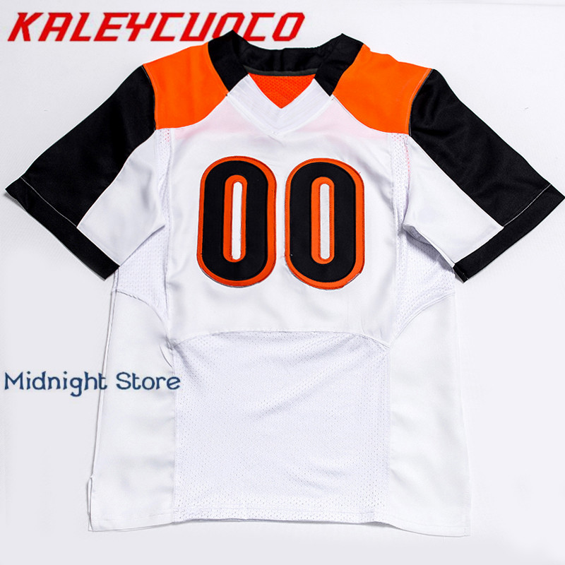 Custom Made Men/Women/Youth High Quality Stitched Logos&Name&Number Football Jerseys Big&Tall Size Color dos logos