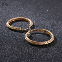 Badu Hollow Round Hoop Earrings Gold Color Big Punk Copper Earring Circle Trendy Jewelry Fashion Silver Brincos Wholesale
