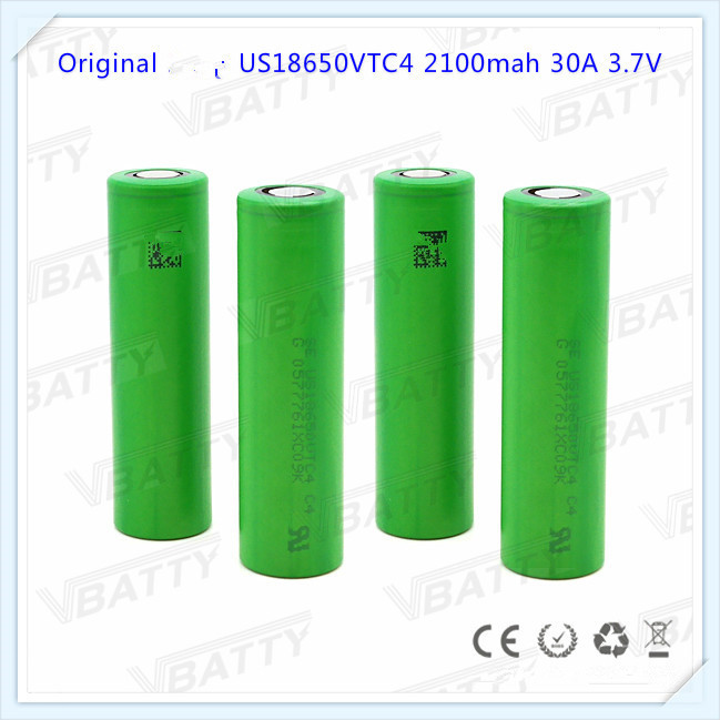 Original Se us18650vt 2100mAh 3.7V battery Authentic 18650 vtc4 battery for sony vtc4 free shipping(1pc) number