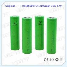 Оригинальный Se us18650vt 2100 мАч батарея 3,7 V Аутентичные 18650 vtc4 Аккумулятор для Sony vtc4 Бесплатная доставка (1 шт.)