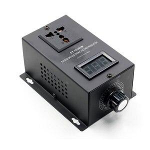 Image 3 - Régulateur de tension électronique SCR 220V 10000W, réglage de la vitesse de la température, variateur de puissance