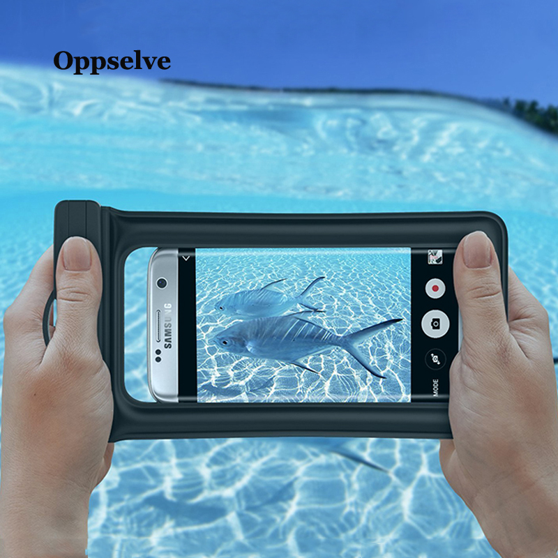 Oppselve Universal IPX8 Waterproof Case For iPhone Xs Max Xr X 8 7 6S Samsung S9 S8 Plus Note 9 8 Phone Pouch Underwater Dry Bag