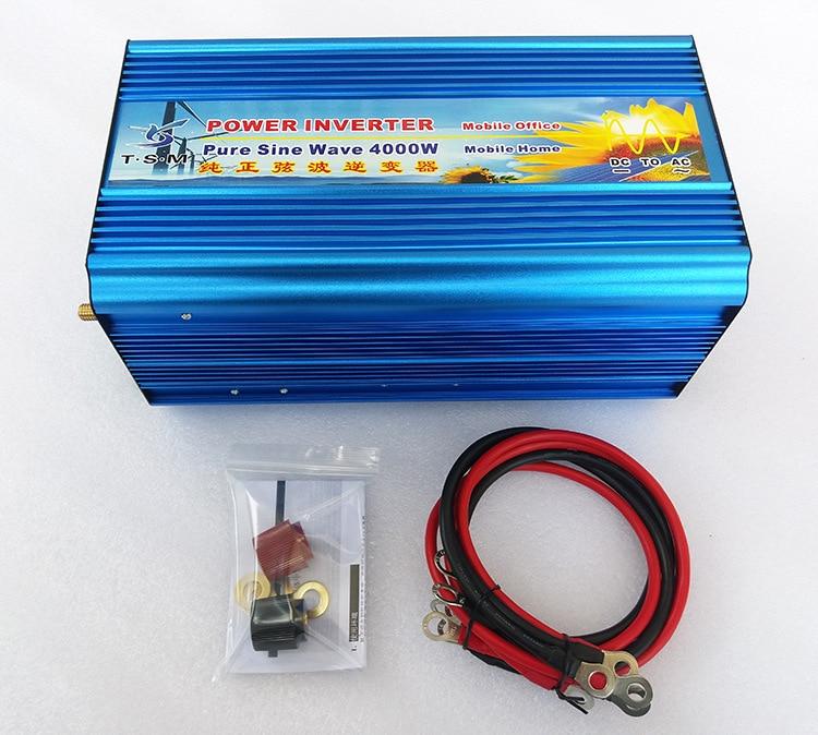 цена на 4000W Pure Sine Wave Solar Inverter 24V to 220V Car Power Inverter Coverter Voltage Regulator 12V/36/48V DC to 120V/230V/240V AC