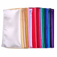 CiciTree Men S Pocket Square Silk Handkerchief Pocket Hankies Solid Plain Satin Polyester Christmas Wedding Party