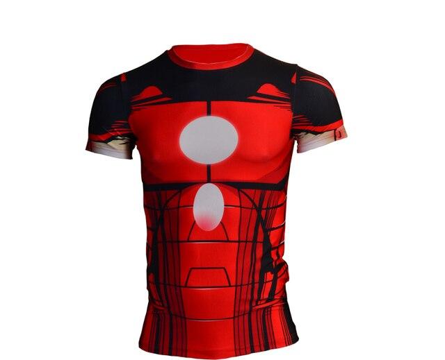 Nueva Marvel los Vengadores Superhéroe Camiseta Iron Man T Shirt de Impresión  3D camiseta de Los b2dad354c986f