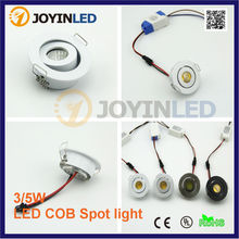 Free Shipping CE ROSH High Quality Round 3W Dimmable Mini COB LED Downlights Lamps