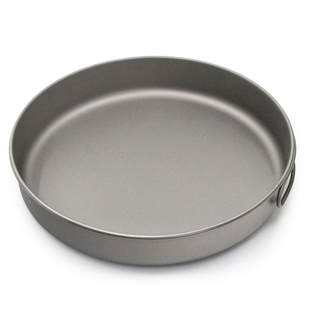 1000ml Camping Titanium Pan Ultralight Titanium Frypan Bowl Water Cup Outdoor Tableware Cookware Utensils Picnic Frying Pan