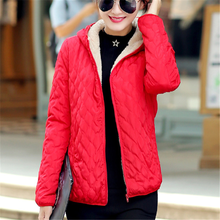 Women Jacket Winter Parka Coat Plus Size Fashion Woman Cotton Thick Jackets Velvet Ropa De Invierno Para Mujer