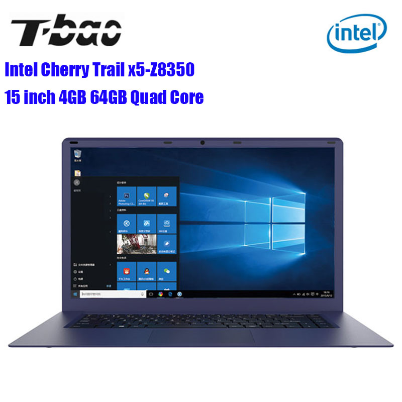 T-Bao Tbook R8 Laptop 15.6 Inch 4GB RAM 64GB Windows 10 English Version Intel Cherry Trail X5-Z8350 Quad Core 1.44GHz EMMC HDMI