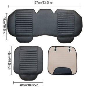 Image 2 - Capa protetora de couro para banco de carro, acessório automotivo universal para proteção de assentos em couro sintético para quatro estações