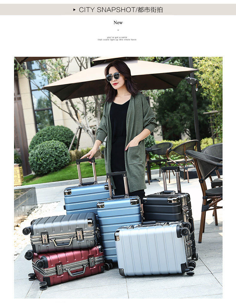 Pc de alta qualidade bagagem de casca dura