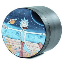 4 Layers Chip Black Animated characters Style Tobacco Grinder Cigarette Grinders Smoking Pipe Accessories gadget Black