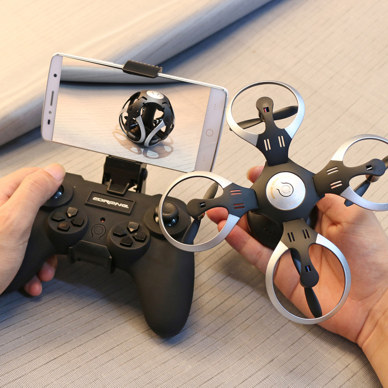 2.4G UFO RC Ball Shaped Quadcopter Foldable Mini Pocket RC Drone Dron WiFi FPV Camera Flying Remote Control Helicopter Toy yc folding mini rc drone fpv wifi 500w hd camera remote control kids toys quadcopter helicopter aircraft toy kid air plane gift