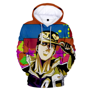 Image 3 - 3D Print Hoodies Men/Women Comic JOJO Hip Hop Sweatshirt Harajuku Tops Hooded Boys/Girls JOJO Streetwear Pullovers