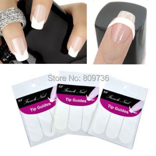 3pcs Sheet French Manicure Strip Nail Art Form Fringe Guides Sticker Diy Line Tips White U Smile 3 Styles Mix Free In Stickers Decals From Beauty