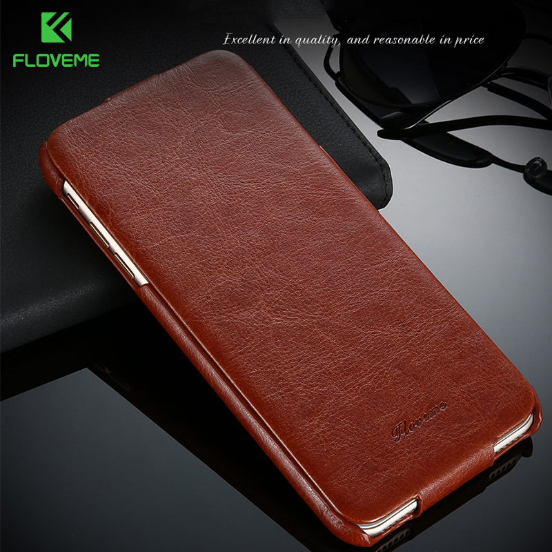 FLOVEME Vintage Flip Leather Case for iPhone 6 6s Plus Luxury Vertical PU Leather Wallet Phone Cover For iphone 7 6 6S Plus Capa