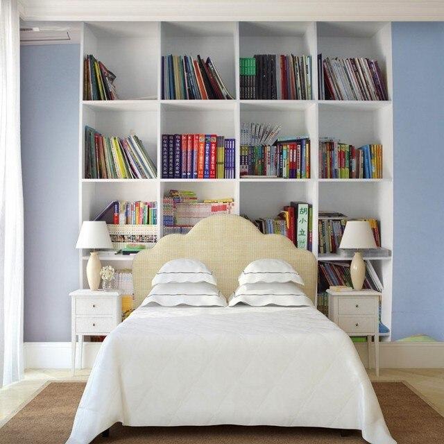 custom muurschildering moderne minimalistische decoratie stijl woonkamer muurschildering boekenkast 3d achtergrond behang