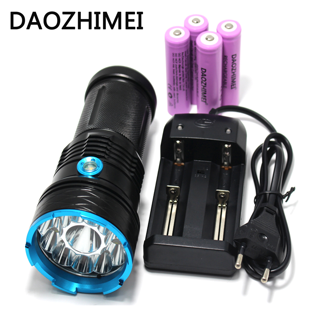 30000 lumens Super Bright LED flashlamp 12 x XM-L T6 XML T6 12T6 LED Flashlight Hunting Torch + 4 *18650 battery + Charger фонарик led flashlight skyray 5 x t6 xml 3 5000lm 18650 xml t6