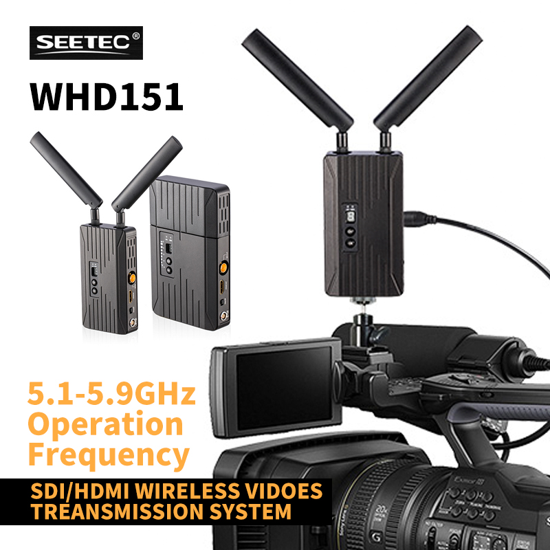 WHD151 150m SDI/HDMI wireless video transmitter and receiver audio wireless hdmi transmitter unifying adapter broadcast