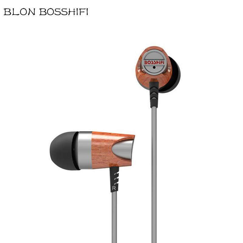 bosshifi b3s dynamic and armature wood earbuds hifi red moving iron BLON BOSSHIFI B3s hifi Bass Music Stereo Audio Headphones Wooden In-ear Dynamic Earphone Headset High Quality Earset For Iphone