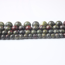 LanLi 6/8/10/12mm natural Jewelry The dragon blood Stones beads suitable for DIY Men and women bracelet necklace Accessories