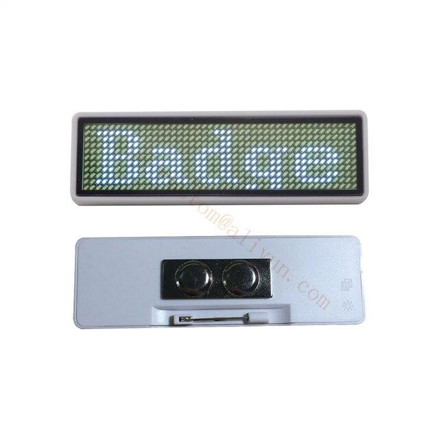 10 adet 44*11 LED adı etiketi adı rozeti yeniden fiyat etiketi adı bant ofis adı etiketleri, rusya federasyonu