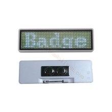 10 pièces 44*11 LED étiquette nominative Badge nominatif réutilisable étiquette de prix nom bande bureau étiquettes nominatives, à la fédération de russie