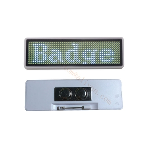 Image 1 - 10pcs 44*11 LED Name Tag Name Badge reusable Price Tag name Tape office  name tags, to Russian Federation