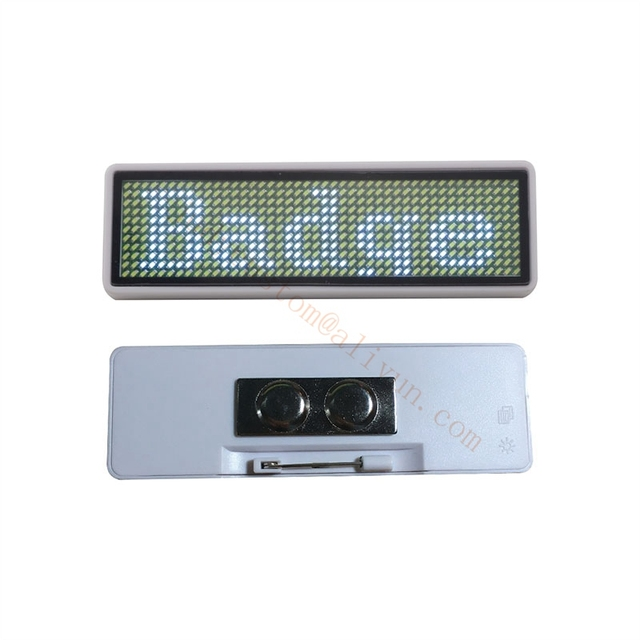 10pcs 44*11 LED Name Tag Name Badge reusable Price Tag name Tape office  name tags, to Russian Federation