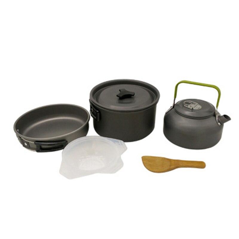 ᗕ2-3 personas portátil al aire libre camping herramienta de cocina ...