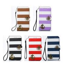 Para htc one m8 caso kickstand phone case leather flip para htc one m8 caso capa corda mão carteira slot para cartão de cobertura pirata