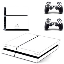 White Decal PS4 Skin Sticker PS 4 Controller Skins for Playstation 4 Console and Two Controllers Skins Kit
