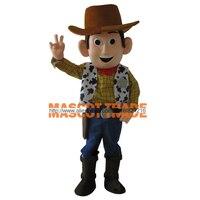Высокое качество Мультфильм Маскоты костюм мальчика коровы Маскоты костюмы Вуди костюм для вечерние