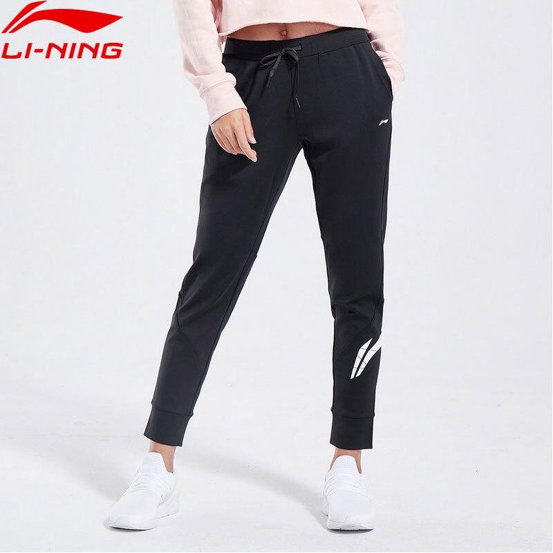 Li Ning Women Training Series Sweat Pants Regular Fit 100 Cotton LiNing Comfortable Sports Pants Trousers