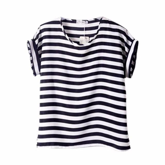2017 Summer Fashion Women O Neck Shirt Colorful Short Sleeve Women tops Female Shirts Batwing Loose Chiffon Blouse Feminino